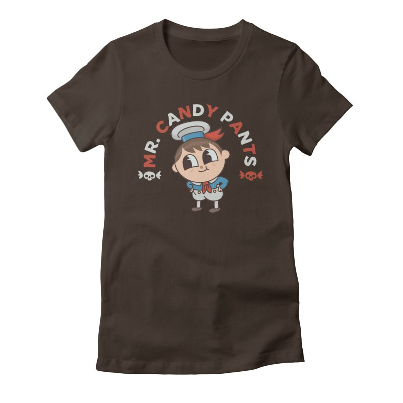 Mr Candy Pants Women's Fitted T-Shirt by Pepe Rodríguez