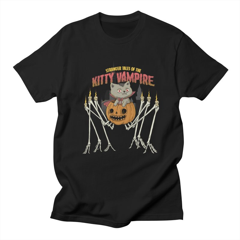 Kitty Vampire in Men's Regular T-Shirt Black by Pepe Rodríguez