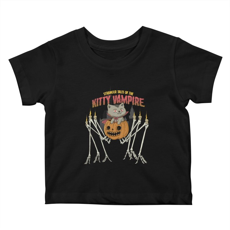 Kitty Vampire Kids Baby T-Shirt by Pepe Rodríguez