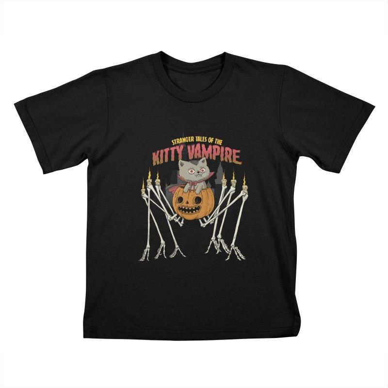 Kitty Vampire Kids T-Shirt by Pepe Rodríguez