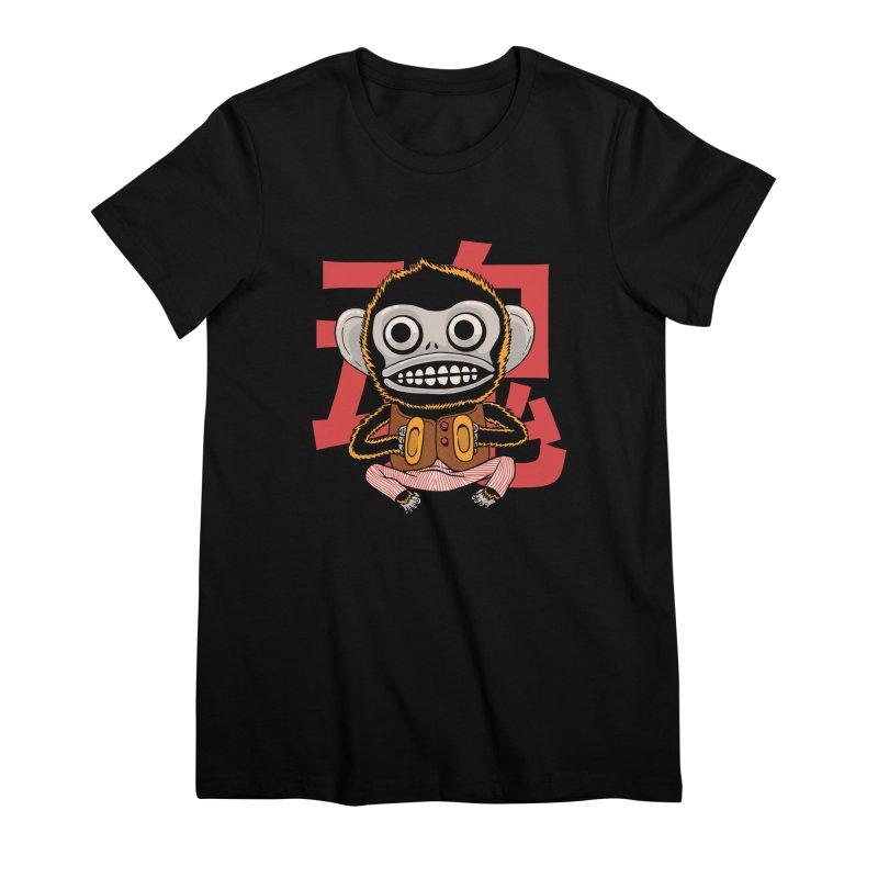 Evil Monkey Women's Premium T-Shirt by Pepe Rodríguez