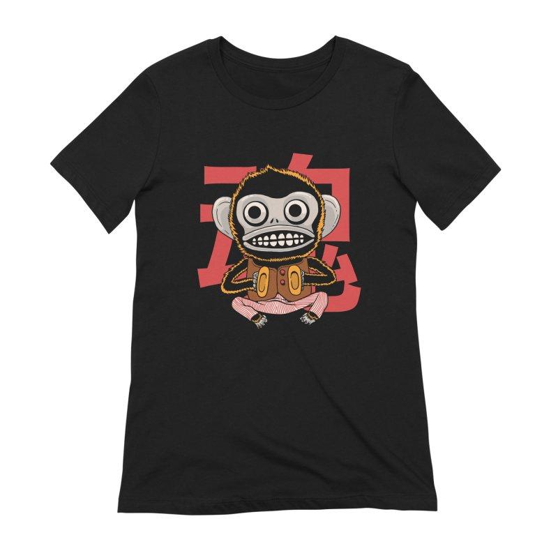 Evil Monkey Women's Extra Soft T-Shirt by Pepe Rodríguez