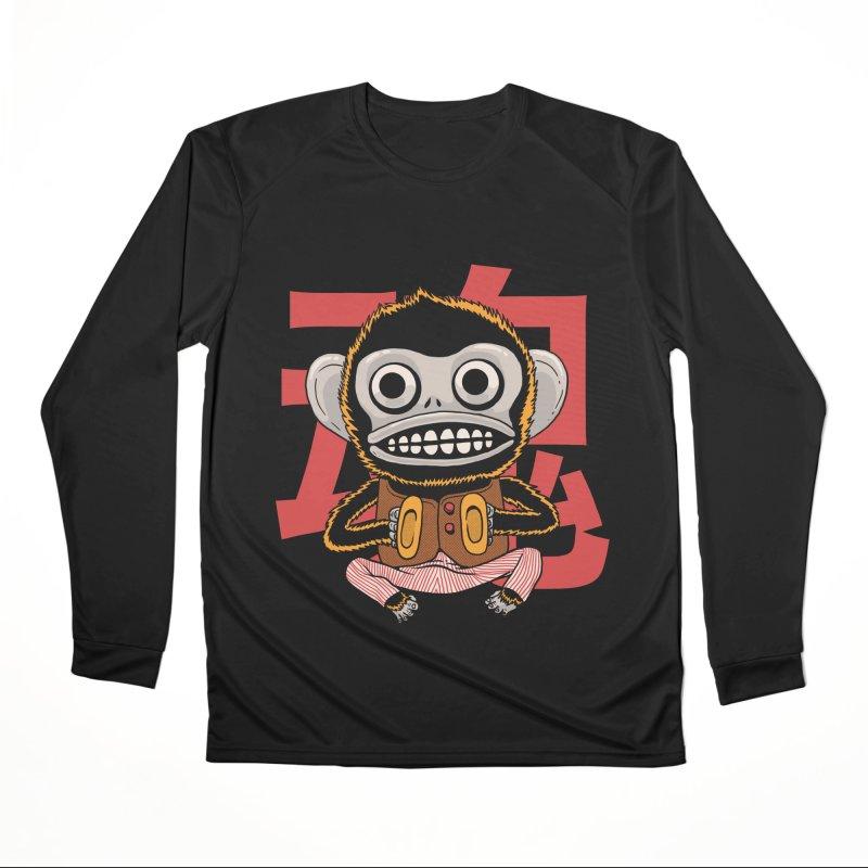 Evil Monkey Men's Performance Longsleeve T-Shirt by Pepe Rodríguez
