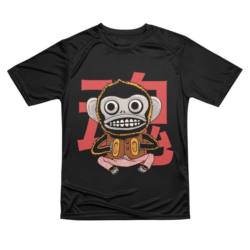 Evil Monkey Women's Performance Unisex T-Shirt by Pepe Rodríguez