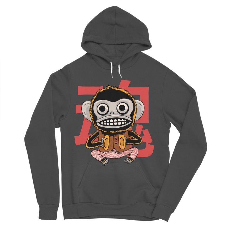 Evil Monkey Men's Sponge Fleece Pullover Hoody by Pepe Rodríguez