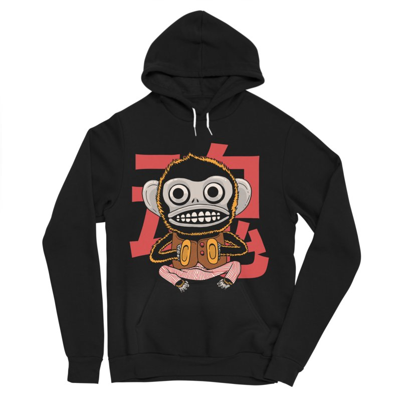 Evil Monkey Women's Sponge Fleece Pullover Hoody by Pepe Rodríguez