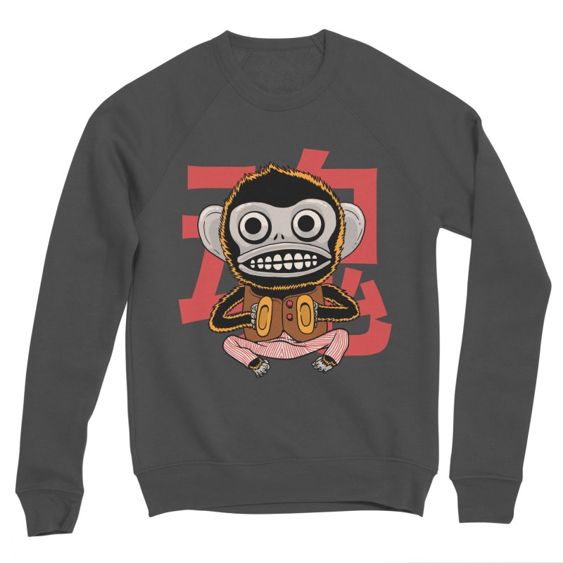 Evil Monkey Women's Sponge Fleece Sweatshirt by Pepe Rodríguez