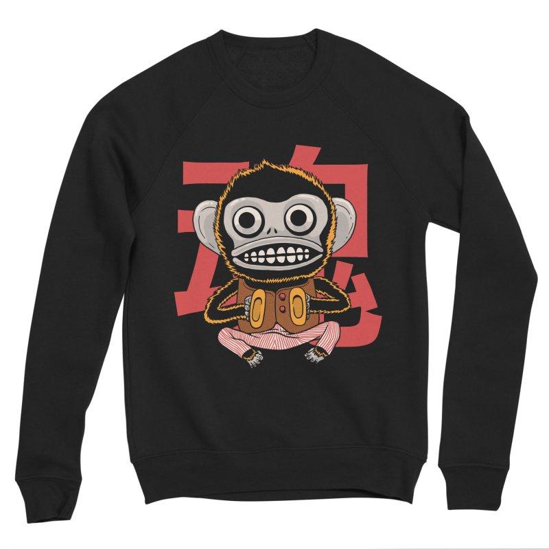 Evil Monkey Men's Sponge Fleece Sweatshirt by Pepe Rodríguez