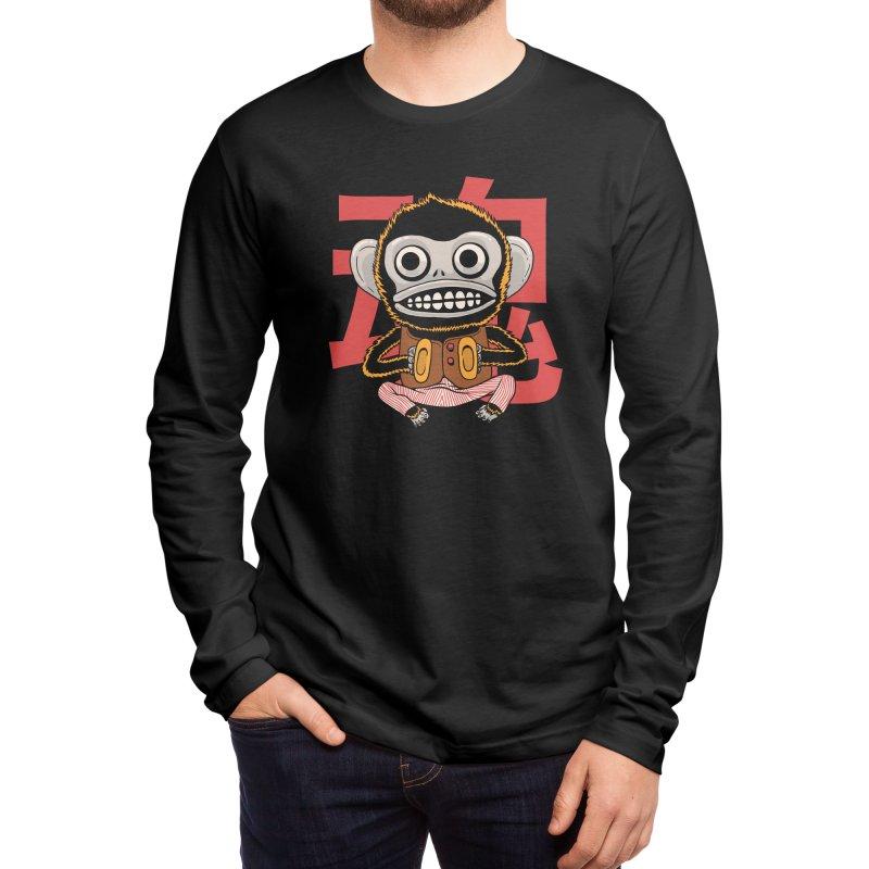 Evil Monkey Men's Longsleeve T-Shirt by Pepe Rodríguez