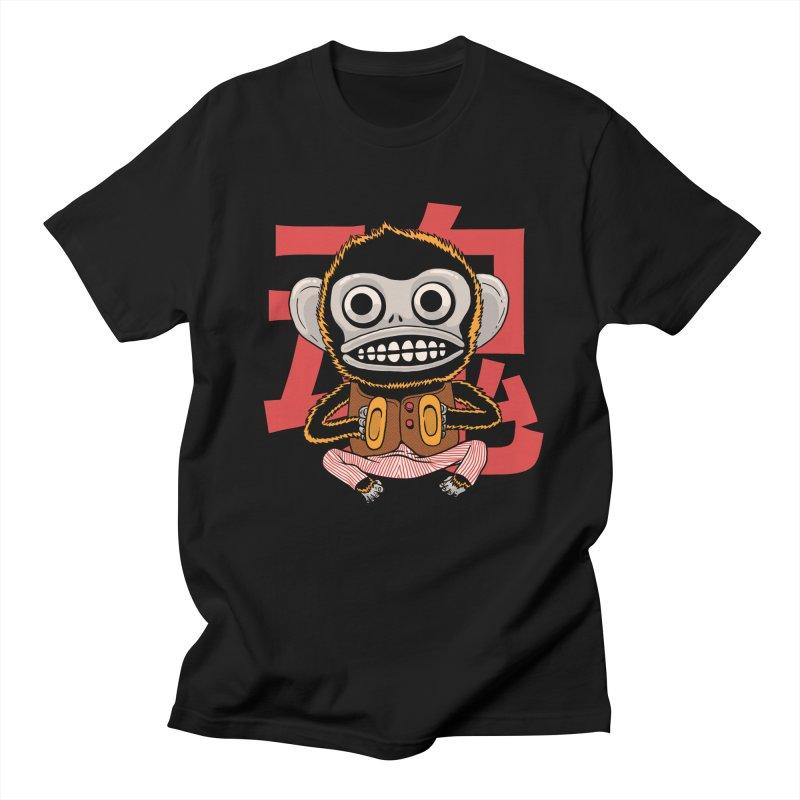 Evil Monkey in Men's Regular T-Shirt Black by Pepe Rodríguez