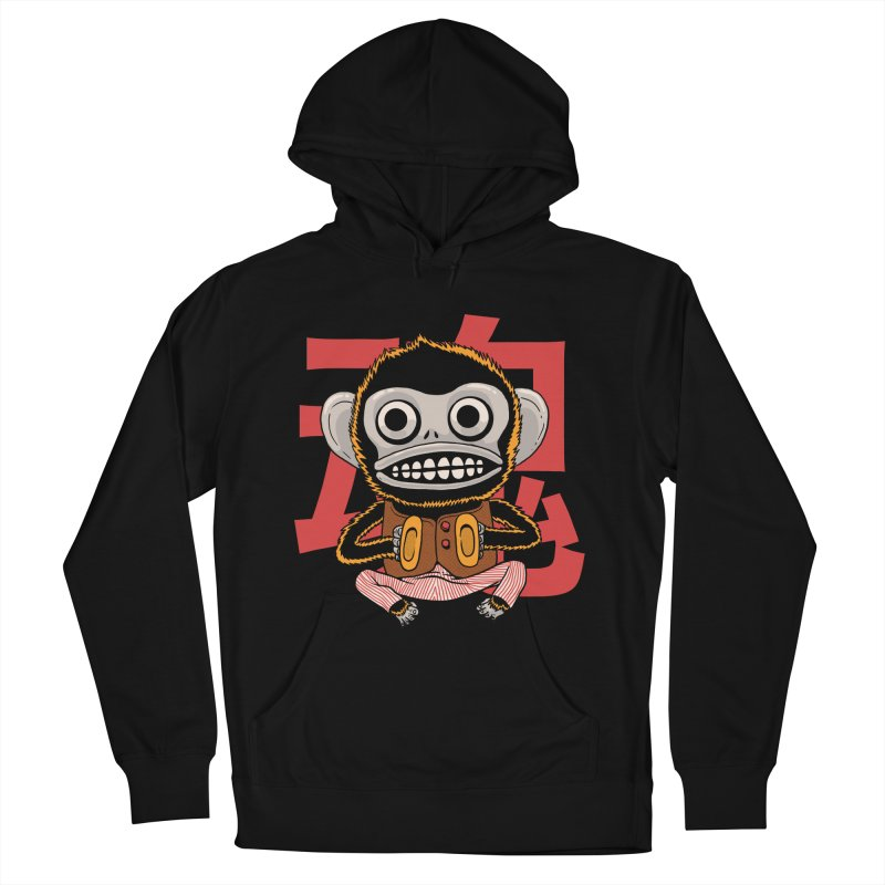 Evil Monkey Women's French Terry Pullover Hoody by Pepe Rodríguez