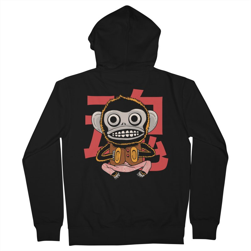 Evil Monkey Men's French Terry Zip-Up Hoody by Pepe Rodríguez