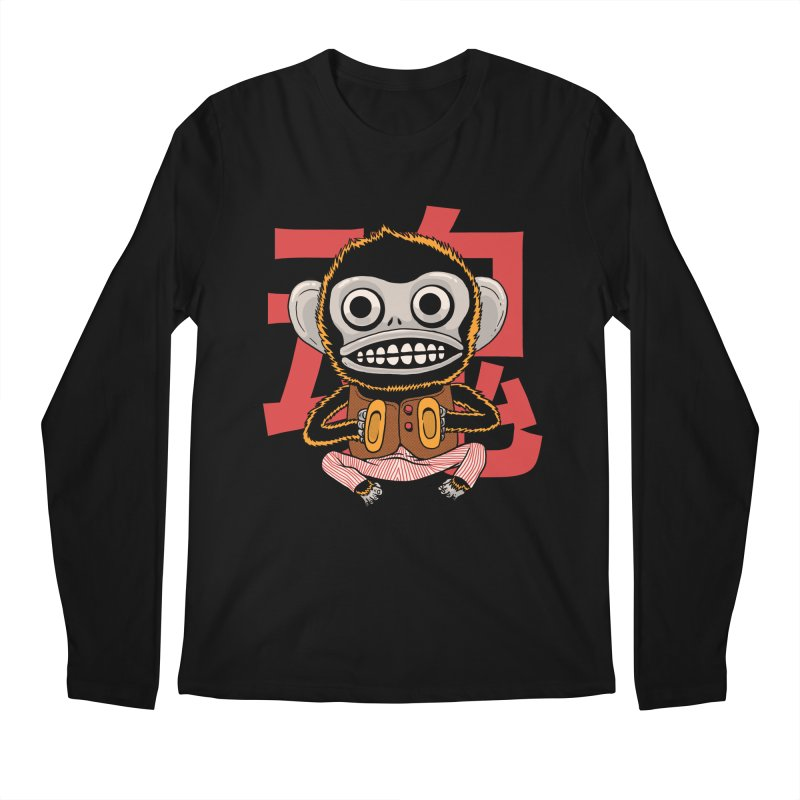 Evil Monkey Men's Regular Longsleeve T-Shirt by Pepe Rodríguez