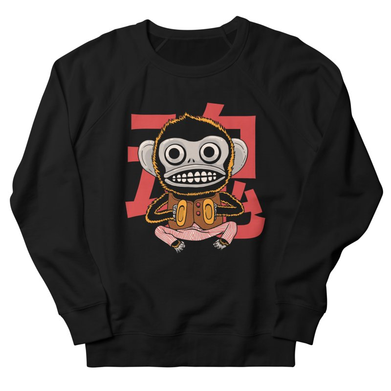 Evil Monkey Women's French Terry Sweatshirt by Pepe Rodríguez