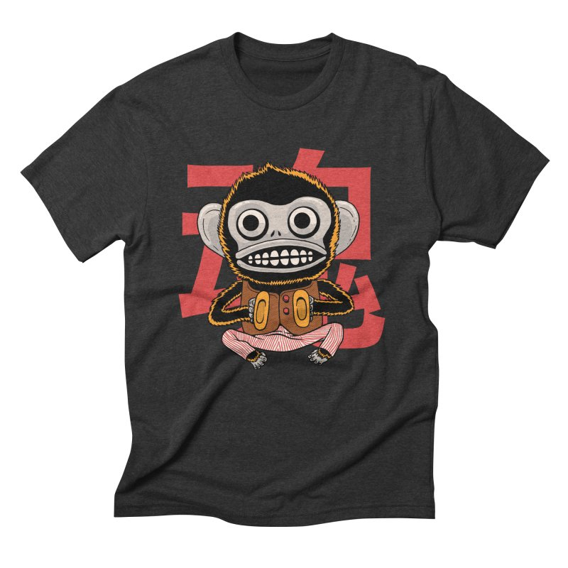Evil Monkey Men's Triblend T-Shirt by Pepe Rodríguez