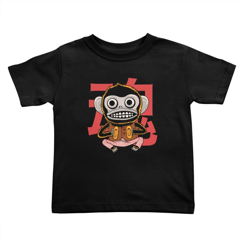 Evil Monkey Kids Toddler T-Shirt by Pepe Rodríguez
