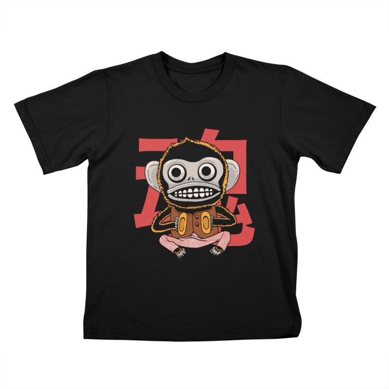 Evil Monkey Kids T-Shirt by Pepe Rodríguez