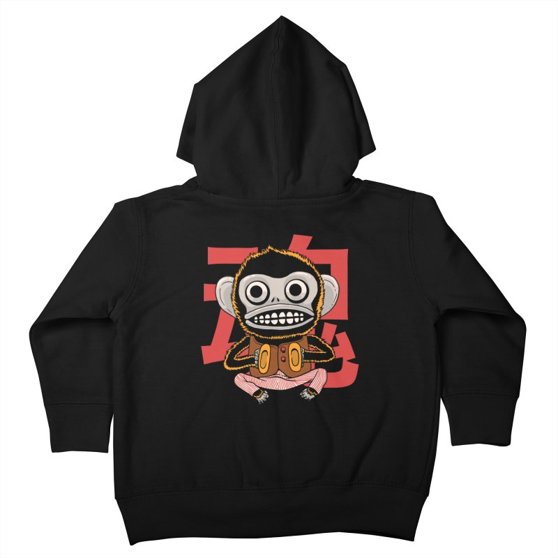 Evil Monkey Kids Toddler Zip-Up Hoody by Pepe Rodríguez