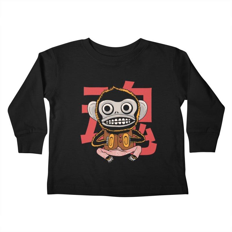 Evil Monkey Kids Toddler Longsleeve T-Shirt by Pepe Rodríguez