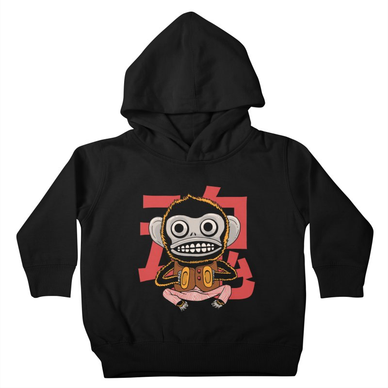 Evil Monkey Kids Toddler Pullover Hoody by Pepe Rodríguez