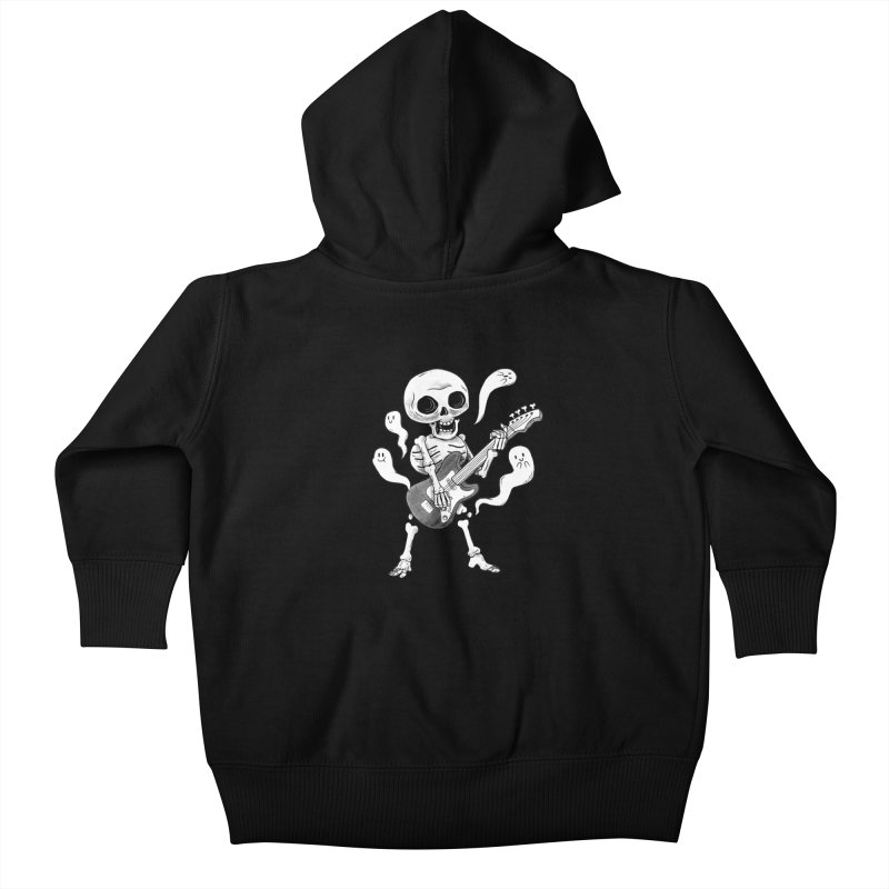 dead rock Kids Baby Zip-Up Hoody by Pepe Rodríguez