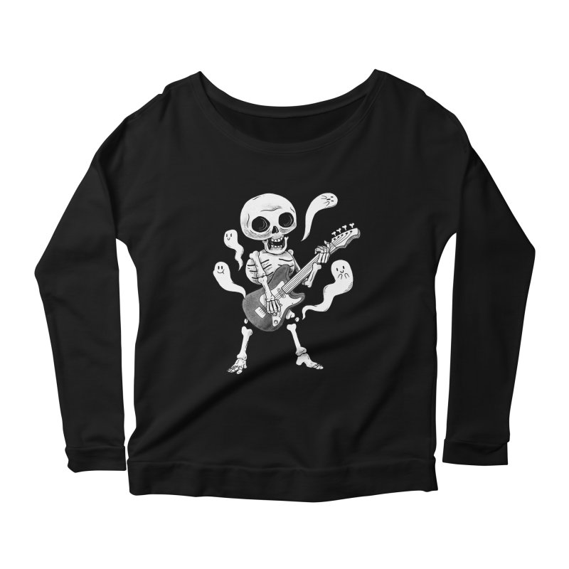 dead rock Women's Scoop Neck Longsleeve T-Shirt by Pepe Rodríguez