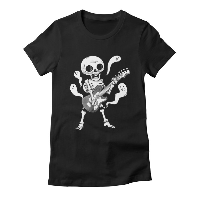 dead rock Women's Fitted T-Shirt by Pepe Rodríguez