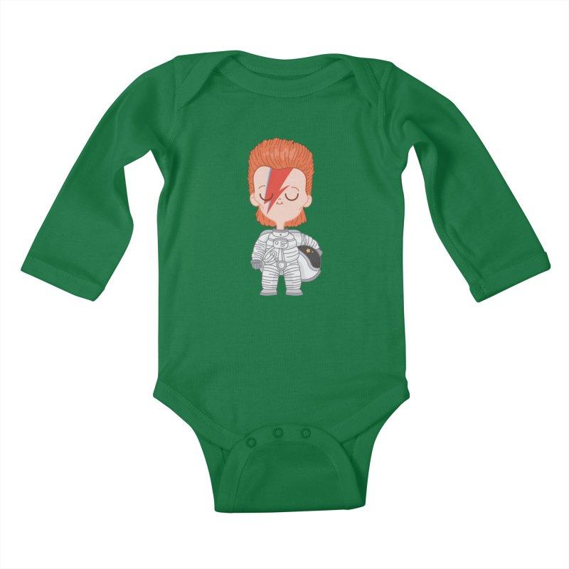 StarMan Kids Baby Longsleeve Bodysuit by Pepe Rodríguez