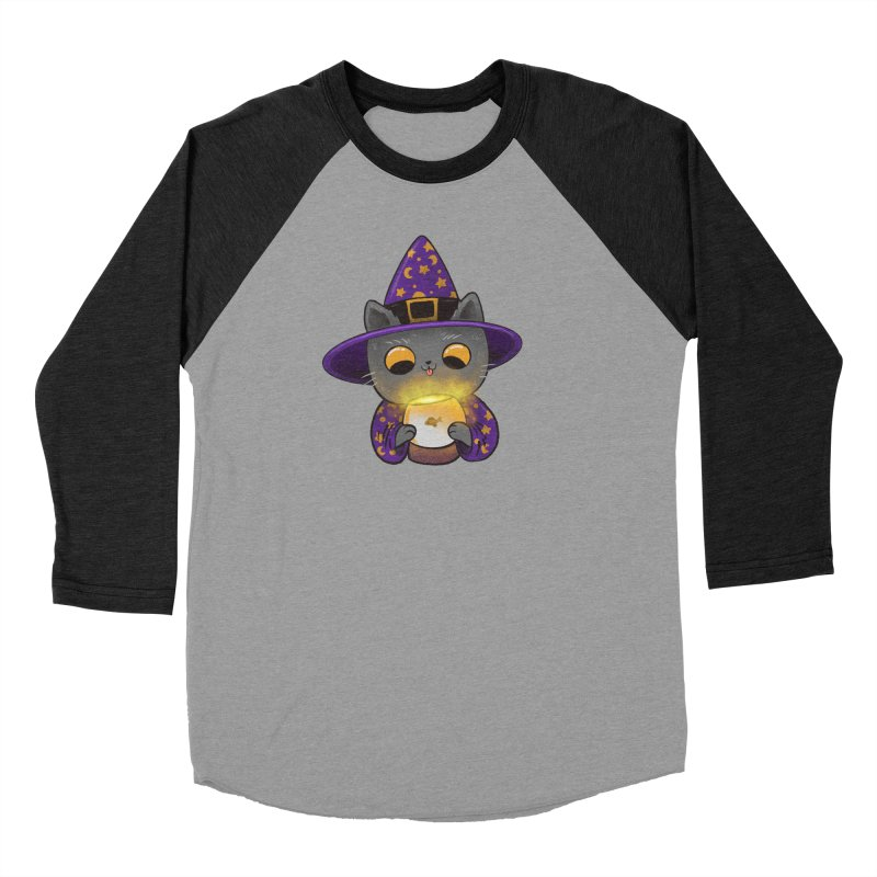 Magicat Women's Baseball Triblend Longsleeve T-Shirt by Pepe Rodríguez