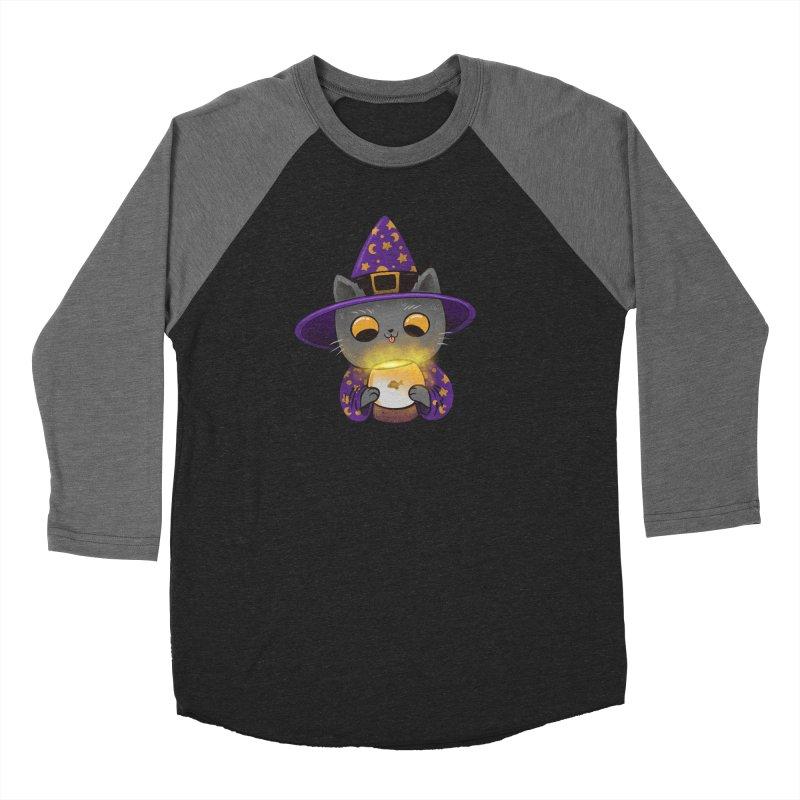 Magicat Men's Baseball Triblend Longsleeve T-Shirt by Pepe Rodríguez