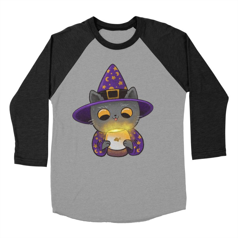 Magicat Men's Baseball Triblend Longsleeve T-Shirt by Pepe Rodríguez
