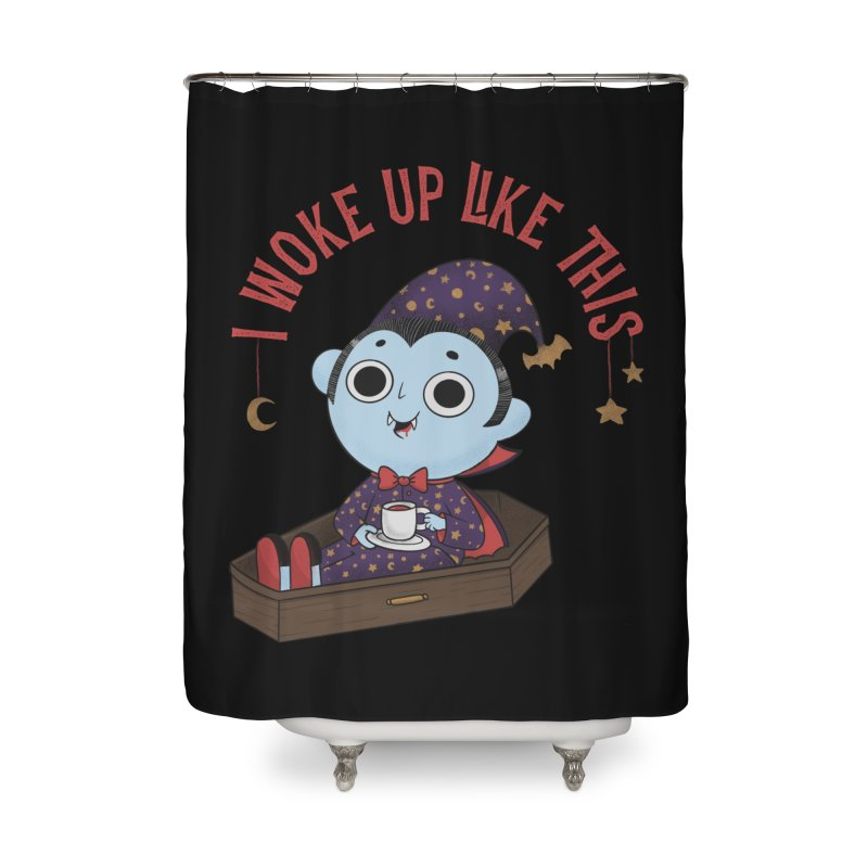 Woke up Home Shower Curtain by Pepe Rodríguez