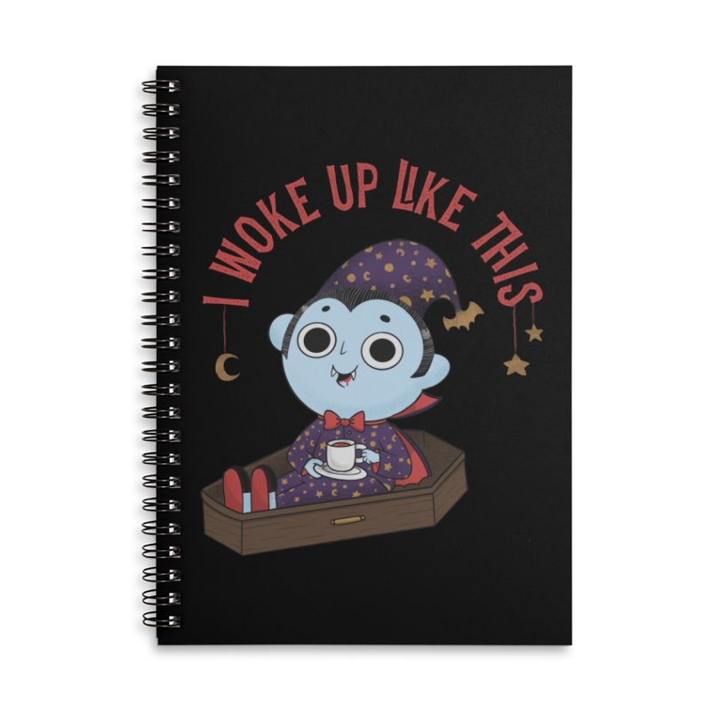 Woke up Accessories Lined Spiral Notebook by Pepe Rodríguez