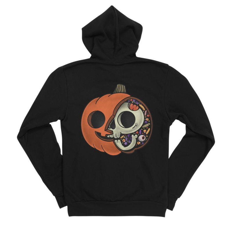 Halloween Anatomy Women's Sponge Fleece Zip-Up Hoody by Pepe Rodríguez
