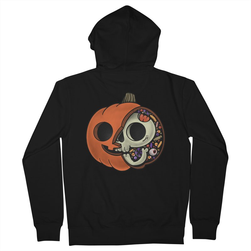 Halloween Anatomy Men's French Terry Zip-Up Hoody by Pepe Rodríguez
