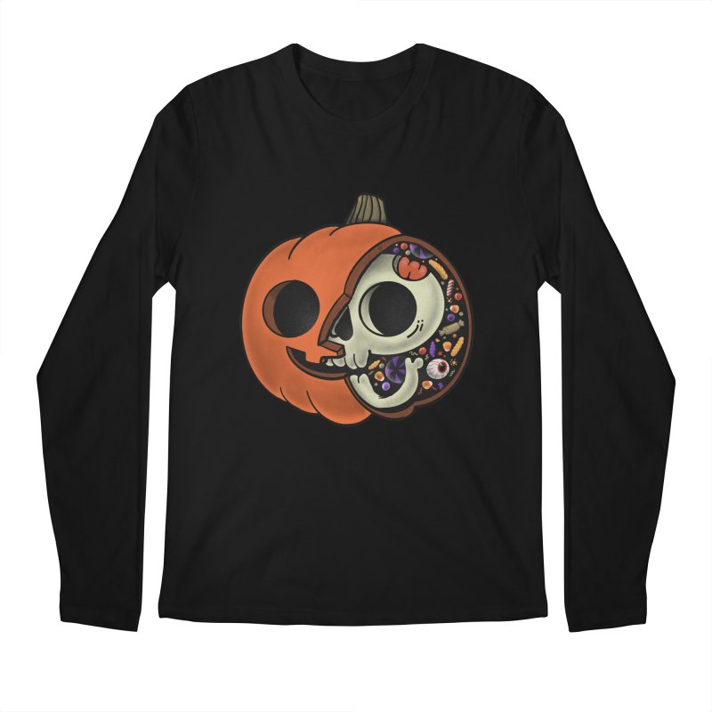 Halloween Anatomy Men's Regular Longsleeve T-Shirt by Pepe Rodríguez