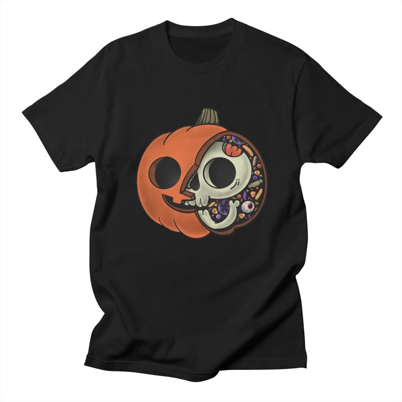 Halloween Anatomy in Men's Regular T-Shirt Black by Pepe Rodríguez