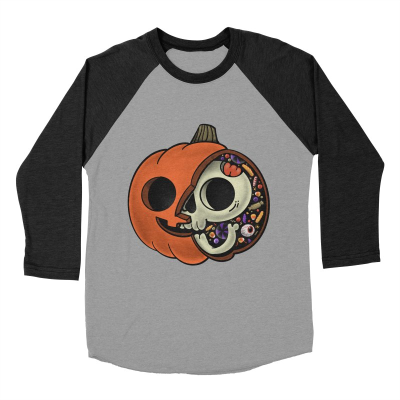 Halloween Anatomy Men's Baseball Triblend Longsleeve T-Shirt by Pepe Rodríguez