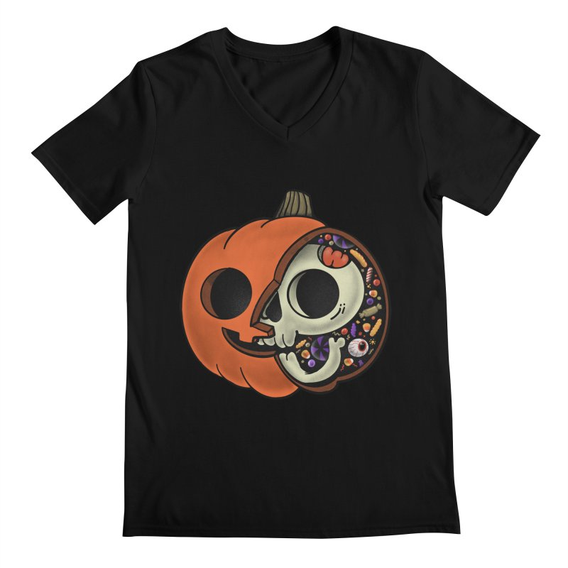 Halloween Anatomy Men's Regular V-Neck by Pepe Rodríguez