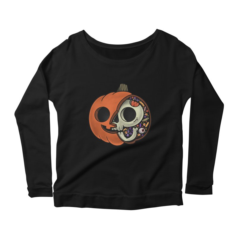 Halloween Anatomy Women's Scoop Neck Longsleeve T-Shirt by Pepe Rodríguez