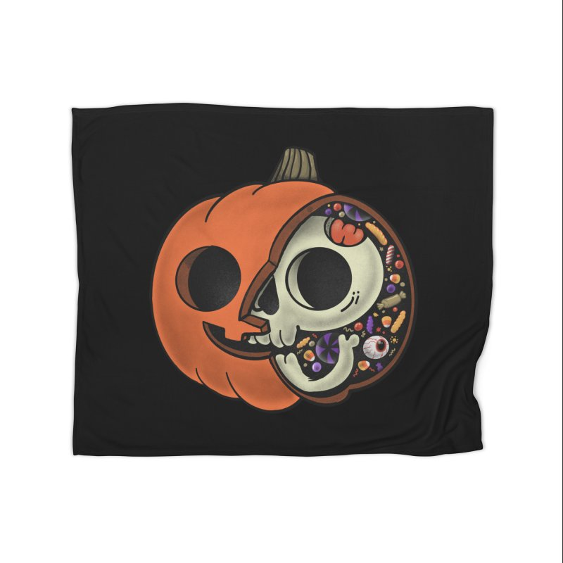 Halloween Anatomy Home Fleece Blanket Blanket by Pepe Rodríguez