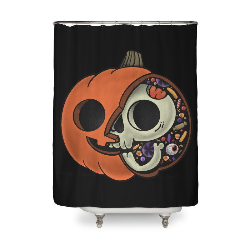Halloween Anatomy Home Shower Curtain by Pepe Rodríguez