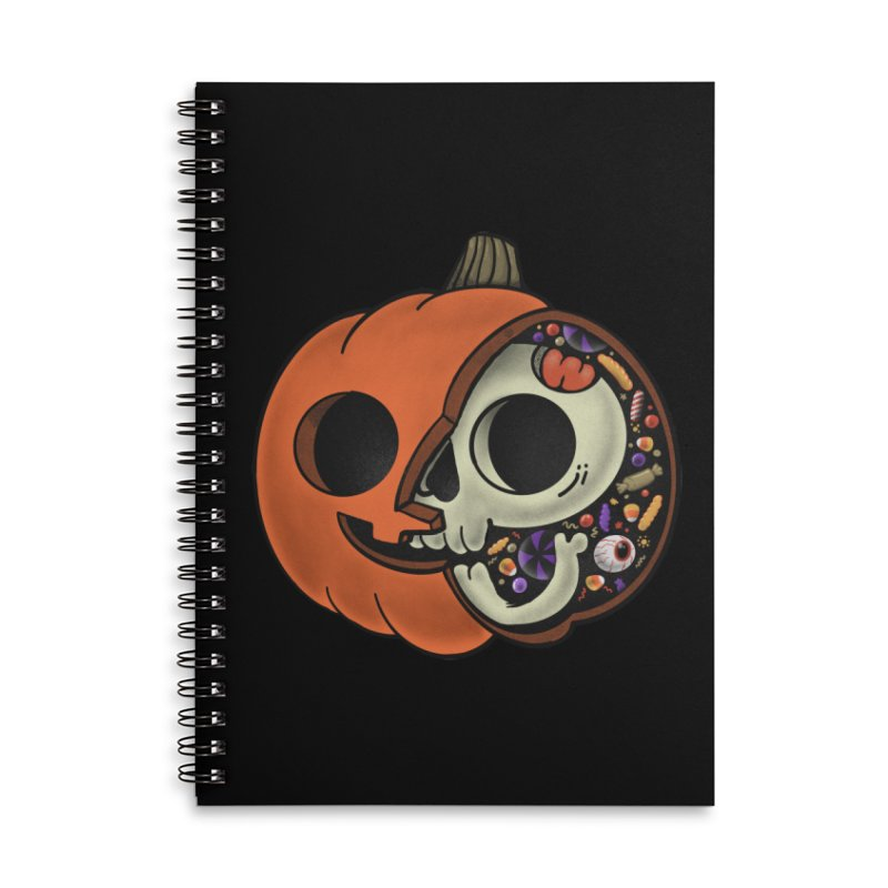 Halloween Anatomy Accessories Lined Spiral Notebook by Pepe Rodríguez