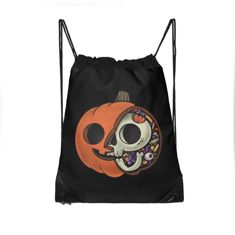 Halloween Anatomy Accessories Drawstring Bag Bag by Pepe Rodríguez