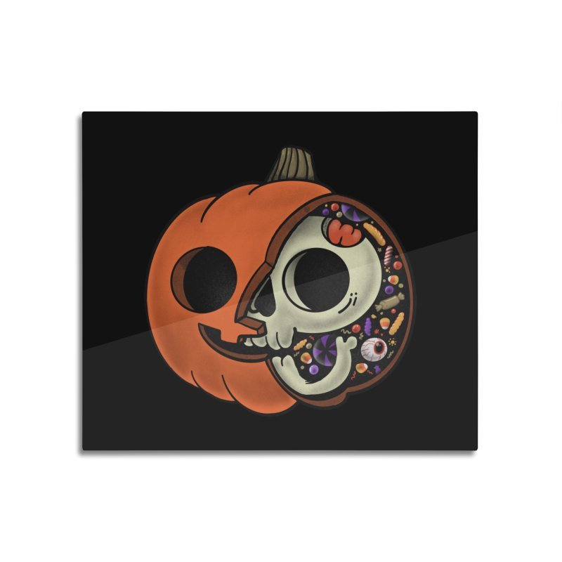 Halloween Anatomy Home Mounted Aluminum Print by Pepe Rodríguez