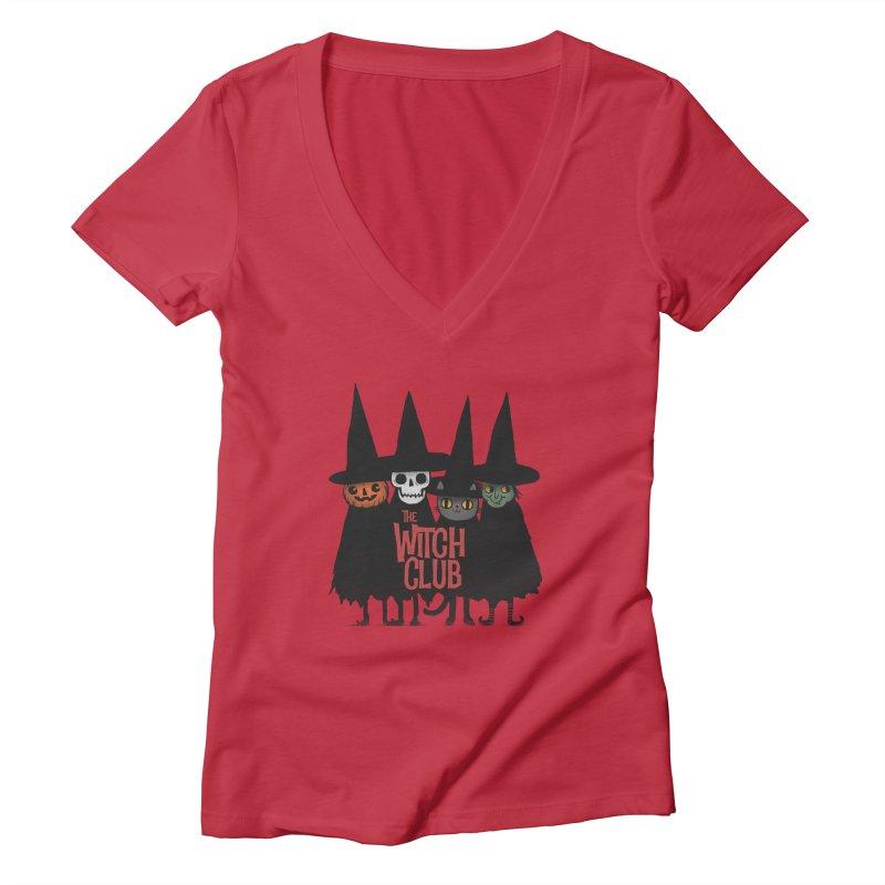 Witch Club Women's Deep V-Neck V-Neck by Pepe Rodríguez