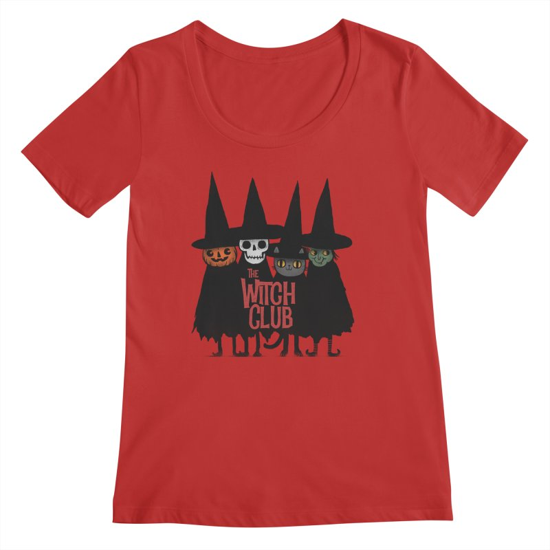 Witch Club Women's Regular Scoop Neck by Pepe Rodríguez