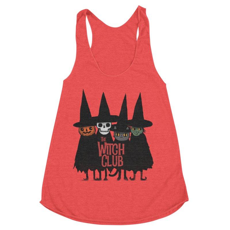Witch Club Women's Racerback Triblend Tank by Pepe Rodríguez