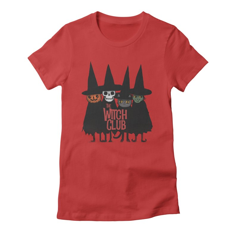 Witch Club Women's Fitted T-Shirt by Pepe Rodríguez