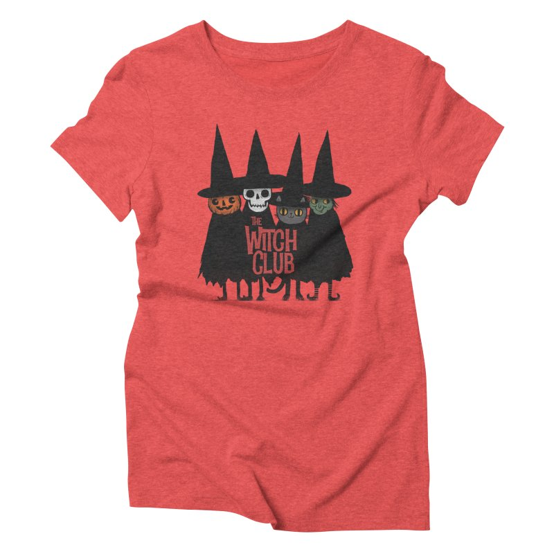 Witch Club Women's Triblend T-Shirt by Pepe Rodríguez